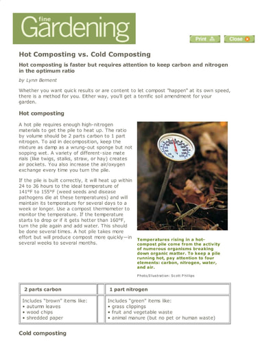 Hot vs. Cold Composting