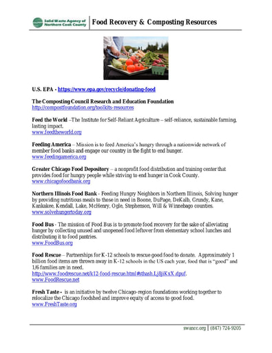 Food Recovery and Composting Resources
